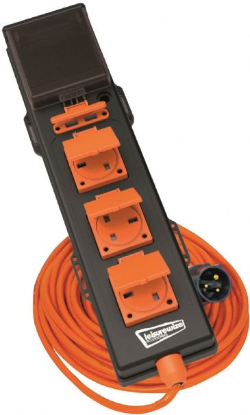 Leisurewize 5 Way -240V Mobile Mains Unit RCD 5-in-1 Hook Up Cable with USB Points
